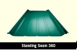 Standing Seam 360 Roof Panel in a Metal Building